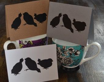 Little Birds Note Cards, Set of Twelve