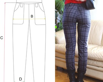 ladies legging pattern, womens pants sewing pattern, womens pants pattern, leggings pattern2018 top patterns, EASY LEGGINGS, sew easy, pdf