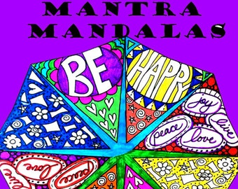 Mantra Mandalas Coloring Pack- 10 Images to Download & Color