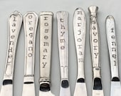 Herb Markers, Herb de Provence, Made from Repurposed Silverware