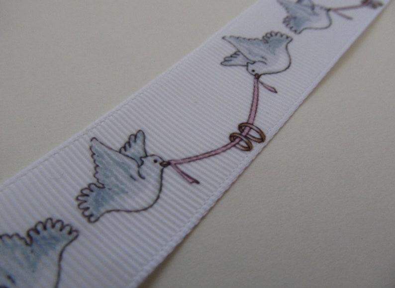 Grosgrain Wedding Dove Celebration Ring Ribbon 1 25mm