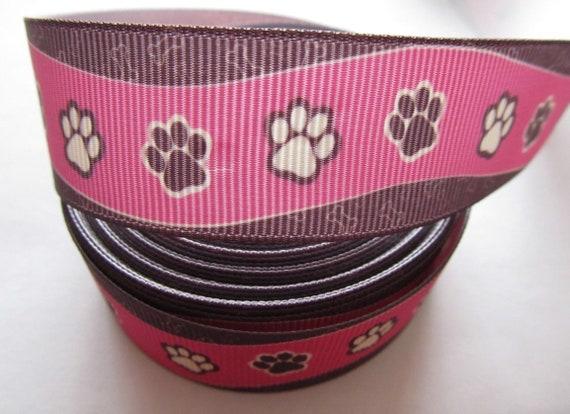 "Grosgrain Caution Biting Dog Ribbon 7//8/"" 22 mm"