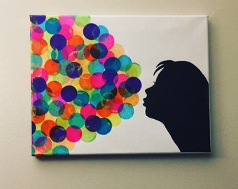 """Collage Wall Decor """"Mysterious Bubbles"""""""