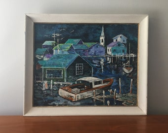 Original Painting Coastal Town