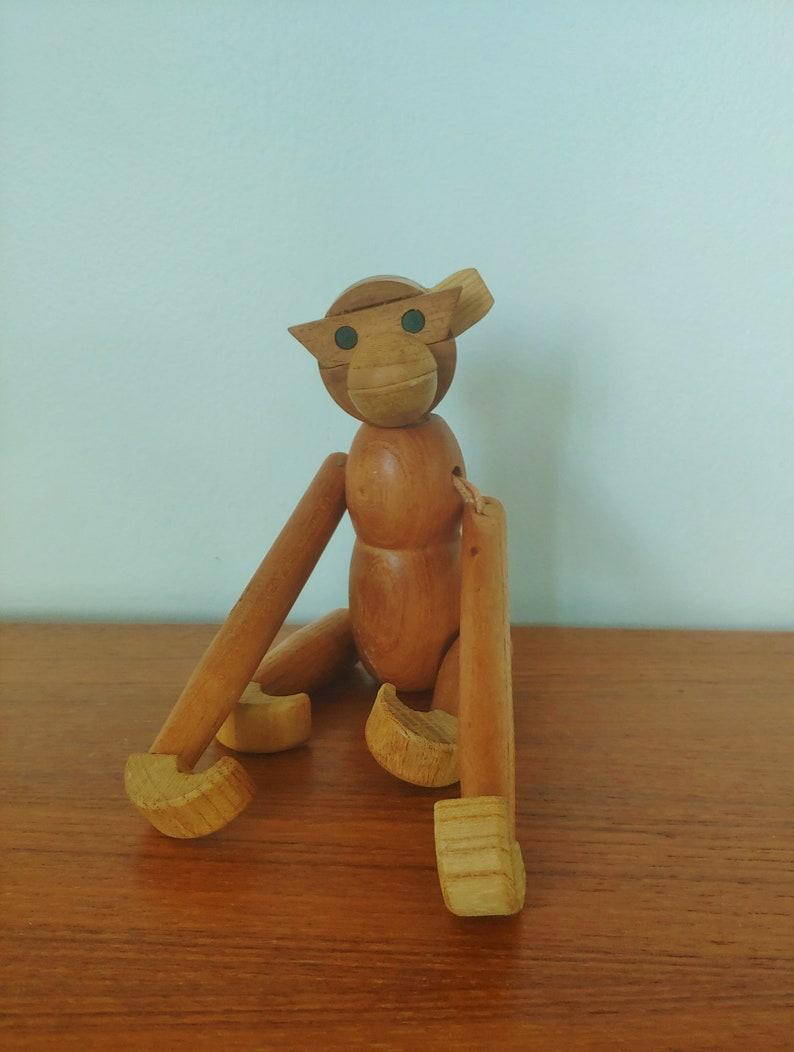 Vintage Danish Modern Kay Bojesen Style Wood Monkey