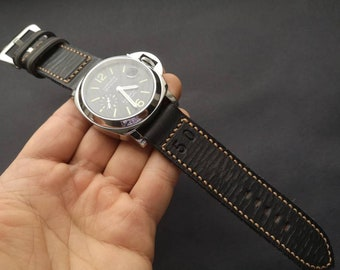 24mm handmade vintage style leather strap for Panerai Luminor! Dedicated to the 1950! The year of the Panerai Luminor birth!!!