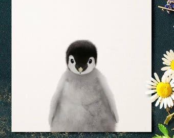 Penguin nursery art, PRINTABLE art, Nursery decor, Animal art, Baby animal prints, The Crown Prints, Nursery wall art, Nursery art, Zoo art