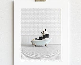 Animal in Bathtub Prints