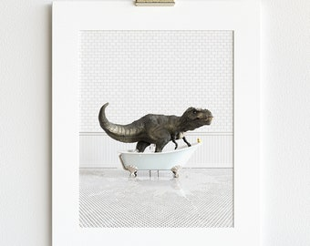 Animal in Bathtub Prints