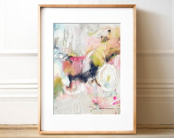 Abstract Art No. 24, Wall art, PRINTABLE art, Colorful art, Abstract print, Pastel colors, Abstract painting, Brushstroke art, Wall decor