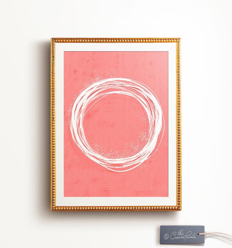 Coral decor print PRINTABLE ART Abstract painting image 0