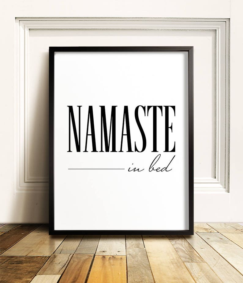 picture relating to Printable Room Decor named Namaste inside mattress, Bed room wall decor, PRINTABLE artwork, Amusing wall artwork, Dorm decor, Teenager space decor, Bed room wall artwork, Namastay inside of mattress, Amusing artwork