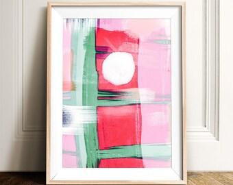 Abstract art, PRINTABLE art, Abstract painting, Modern art, Brushstroke art, Glam decor, Pink art, Abstract print , Modern wall art