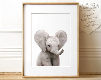Safari nursery art, Elephant print, PRINTABLE art, Safari animals wall art, Baby elephant, Safari theme, Nursery wall art, Safari baby room