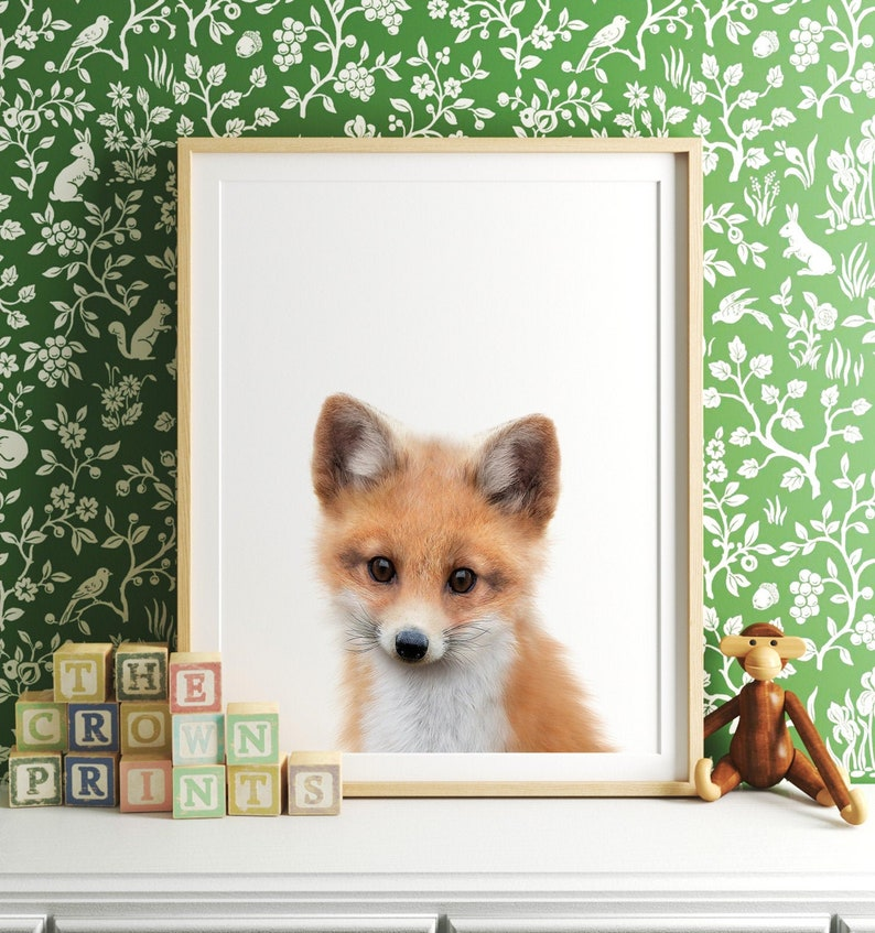 Fox art print PRINTABLE Fox print Nursery decor Animal image 0
