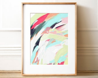"""Abstract Art No. 28 """"Tempest II"""", INSTANT DOWNLOAD, Abstract print,  Abstract painting, Colorful wall art, Brushstroke art, Pastel wall art"""