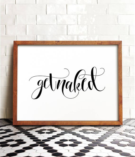 get naked,bathroom wall decor,Home from TypoArtHouse on Etsy