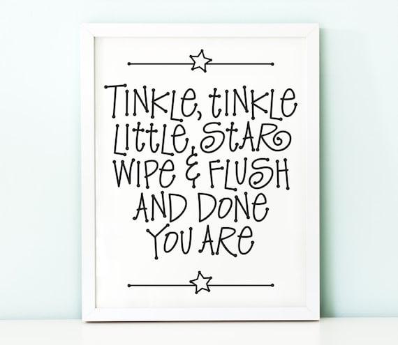 Funny bathroom art PRINTABLETinkle tinkle little | Etsy