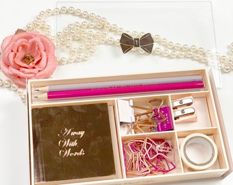 4a376ecec TED BAKER Out of Office Nude Pink Desk Set NEW