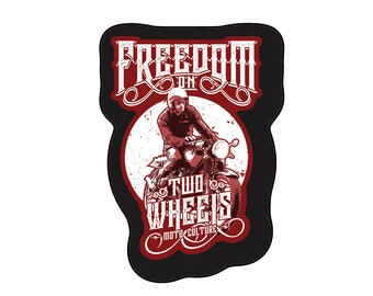 678d836b599a2 Freedom on Two Wheels Motorcycle Sticker