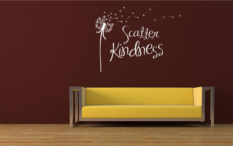 scatter kindness dandelion wall decal car decal custom | etsy