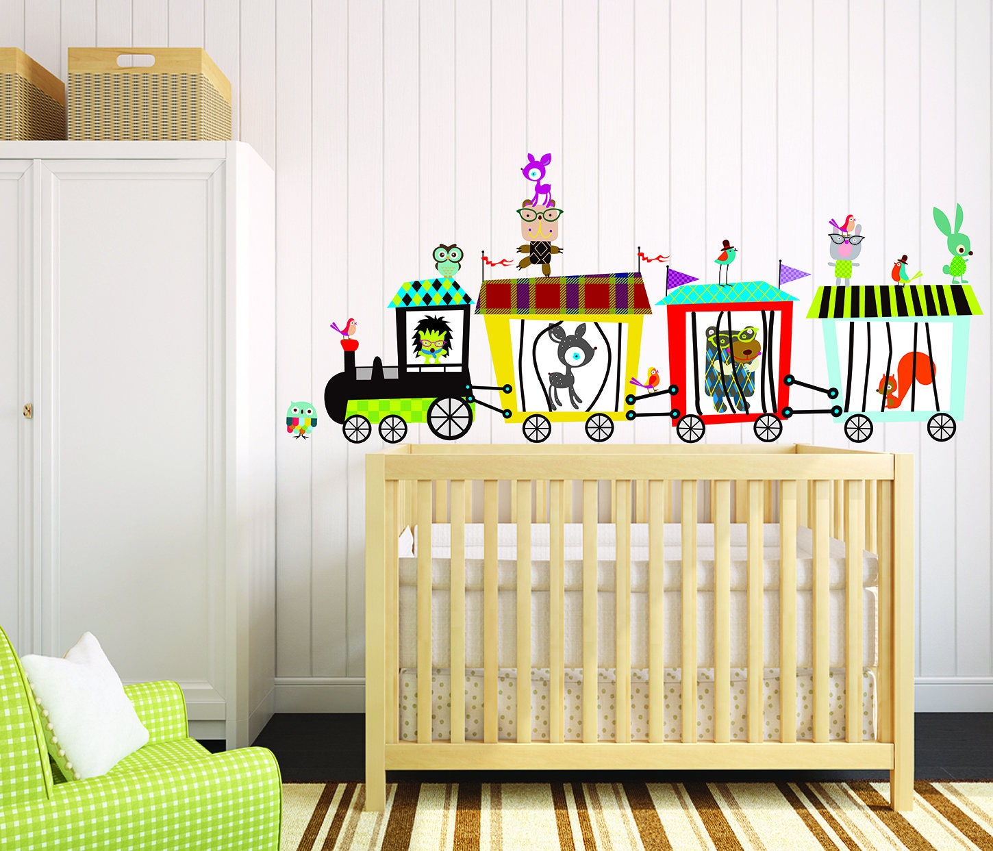 Circus Train Wall Decal Animals Train Decal Kids Room | Etsy