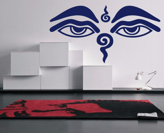 Buddha eyes wall decal buddha decals car decals wall