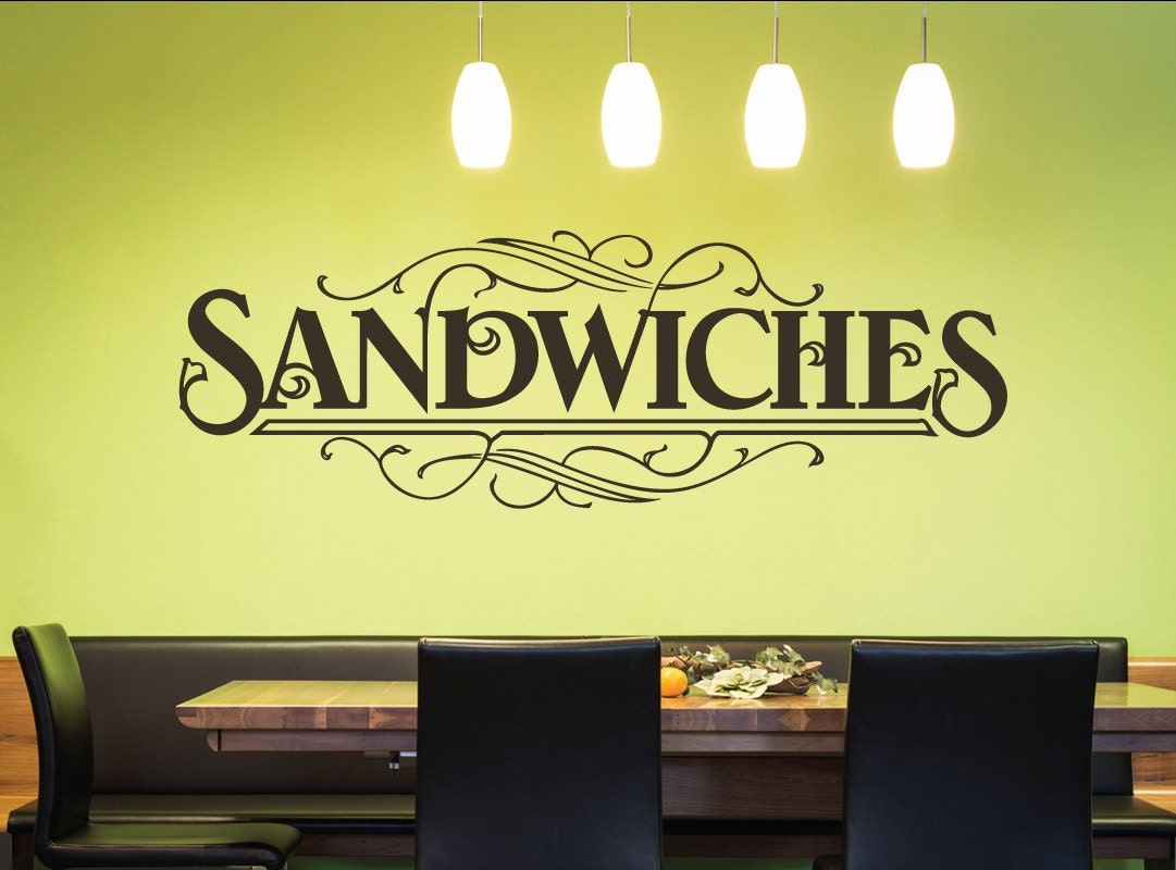 Sandwiches Wall Quote Decal Kitchen Decals Restaurant | Etsy