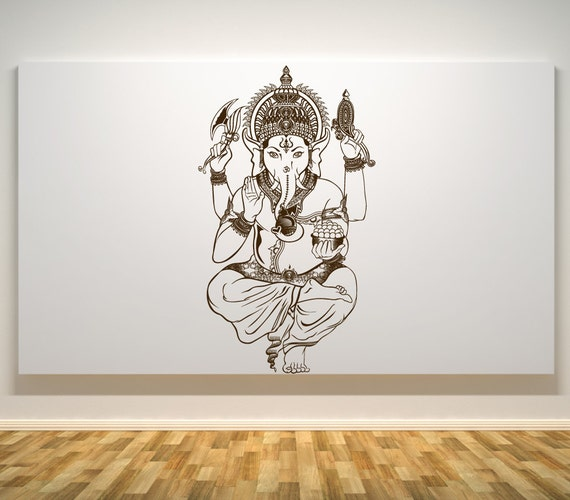 lord ganesh wall decal ganesh hindu god car decals wall | etsy