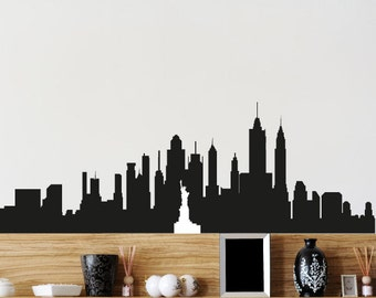 NewYork Skyline Decal - Vinyl Decal - Car Sticker - Laptop Sticker - Wall Decals - Wall Decor