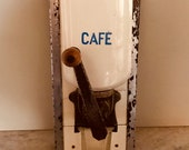 Antique french wall mounted coffee grinder in excellent condition.