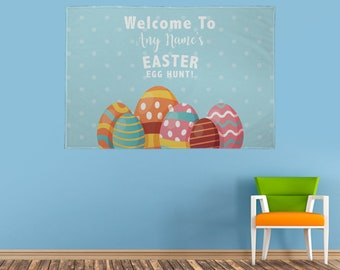 Personalised Easter Egg Hunt Party Banner