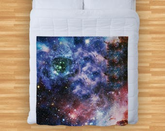 Galaxy Space Design Soft Fleece Blanket Cover Throw Over Sofa Bed Blanket 713f4f557