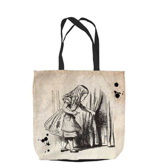 Details about  /ALICE IN WONDERLAND INSPIRED QUOTE CUSTOM TOTE PURSE SPORTS GYM SCHOOL BAG ZIPS