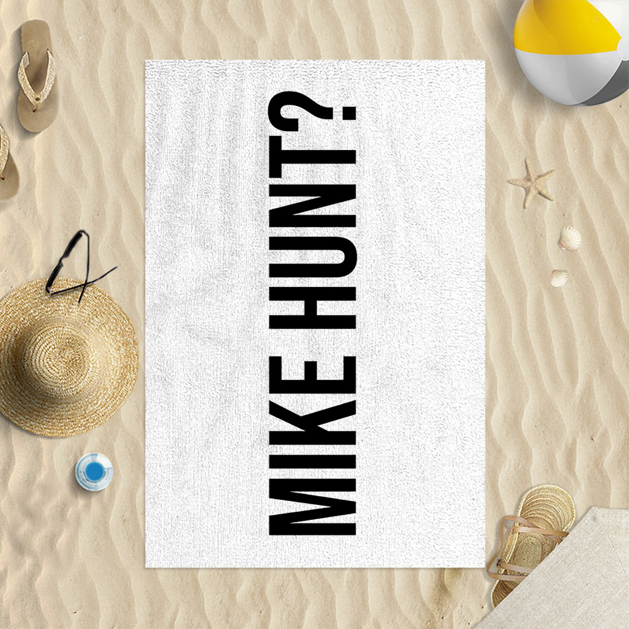 Dig Bick Microfibre Beach Towel Black /& White Print Funny Joke Gift Beach