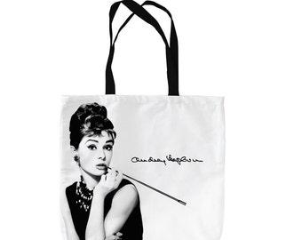 Audrey Hepburn Design Tote Bag Shopping Bag Beach Bag School Bag