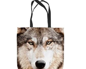 Wolf Design Tote Bag Shopping Bag Beach Bag School Bag
