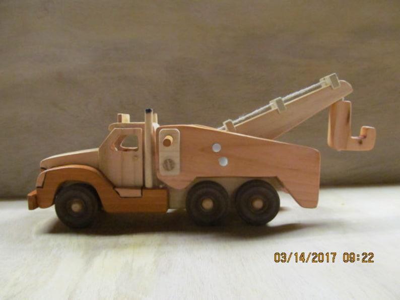 Handmade Wooden Toy Wrecker Truck