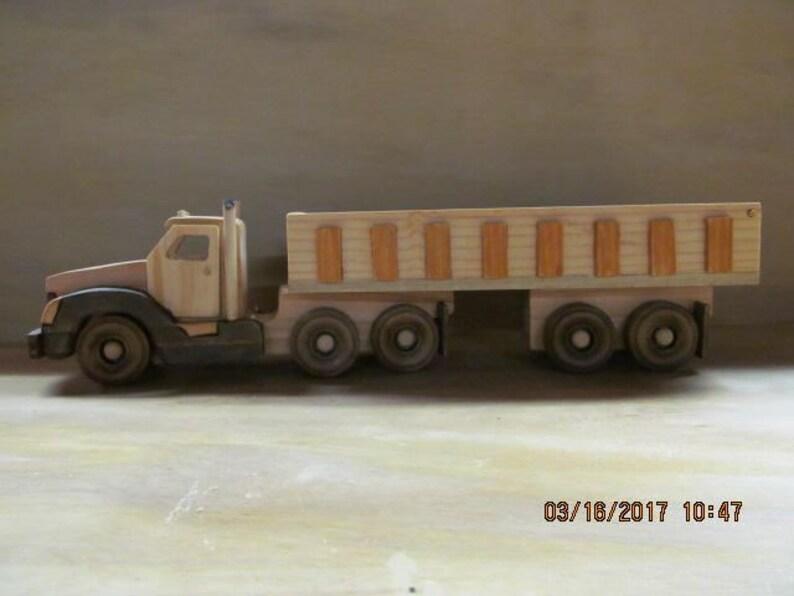Handmade Wooden Toy Truck The Rock Hauler