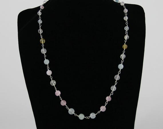 Beautiful Beryl Gemstone Necklace