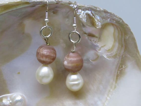 Let the Sunshine in - Sunstone & Cultured Pearl Earrings