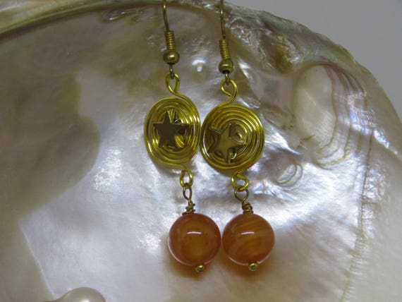 Constellation Carnelian & Haematite Earrings