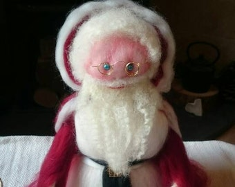 Father Christmas - Hand crafted wool felt Santa