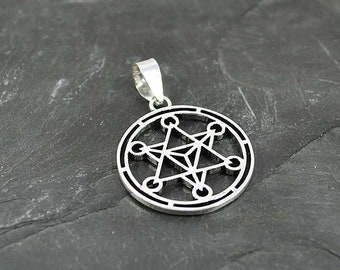 METATRON pendant, metatron silver pendant, Metatron's Cube Symbol, Chakra jewelry, Kabbala pendant, Sacred geometric, Mystic amulet necklace