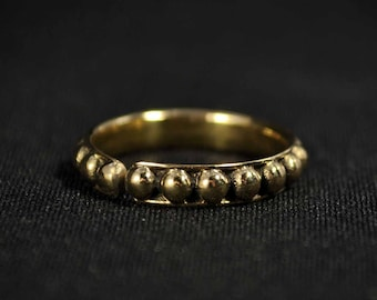 BALLS Brass ring, Brass Stackable ring, Tattoo jewelry, Tiny ring, Hindu style ring, STATEMENT Ring, Elegant silver ring, Urban jewelry