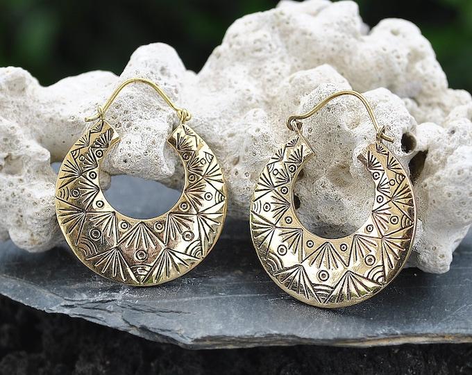 • Brass Earrings