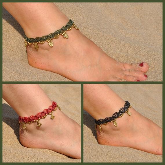 Chain anklet Ankle strap Tribal gypsy ankle bracelet Jungle beach bracelet Silver anklet Dainty foot bracelet Stylish fine bracelet