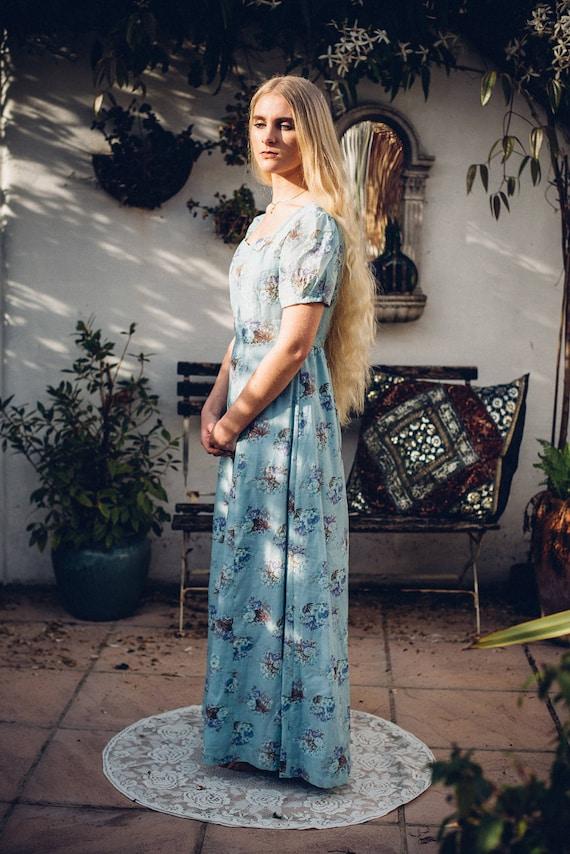 Floral Maxi Dress. 70s Maxi Dress. Festival Clothe