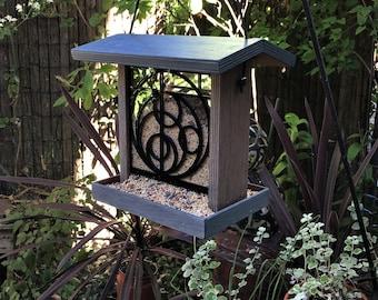 NEW DESIGN - Orbits Window Bird Feeder - Frank Lloyd Wright Inspired Design
