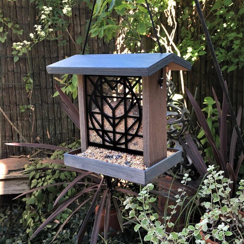 NEW DESIGN Flora Window Bird Feeder  Charles Rennie Blue & Gray